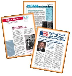 formating newsletters, group communication,