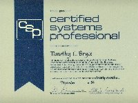 Certified Systems Professional, Charter Member